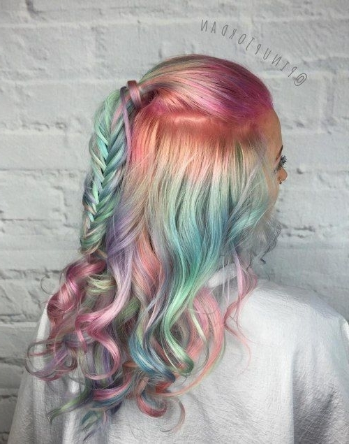 20 Cotton Candy Hairstyles That Are As Sweet As Can Be   Pinterest Inside Most Up To Date Cotton Candy Updo Hairstyles (View 13 of 15)