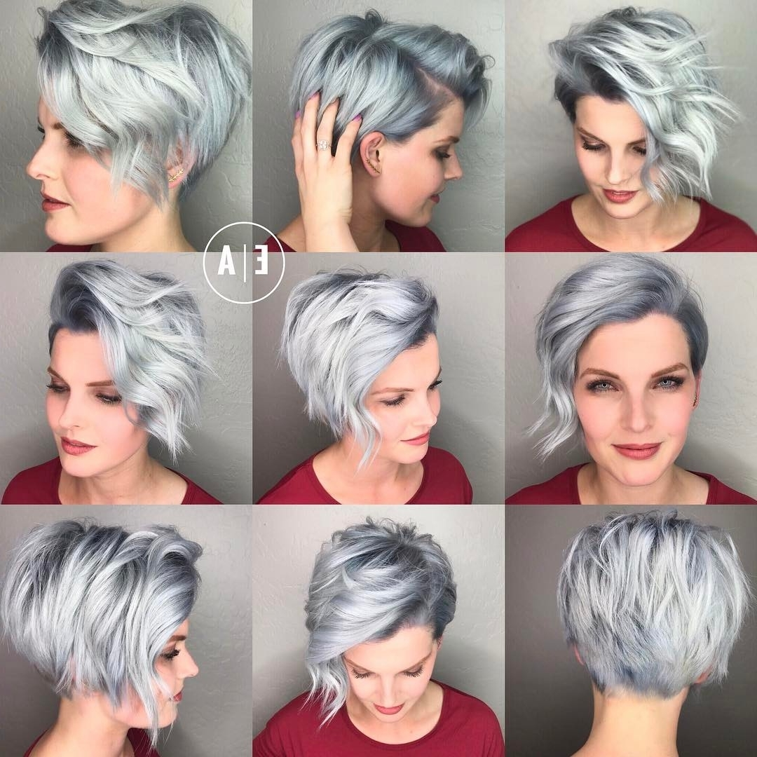 20 Cute Easy Hairstyles For Summer 2018 – Hottest Summer Hair Color For Most Up To Date Gray Blonde Pixie Haircuts (View 8 of 15)