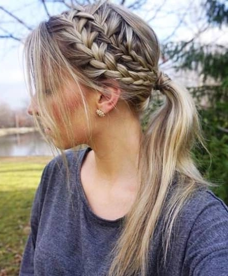 20 Cute French Braid Ponytails For Most Current Sculptural Punky Ponytail Braids (View 9 of 15)