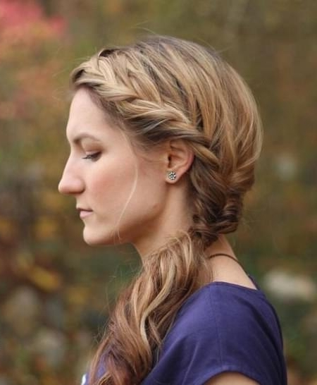 20 Cute French Braid Ponytails With Current Sculptural Punky Ponytail Braids (View 12 of 15)