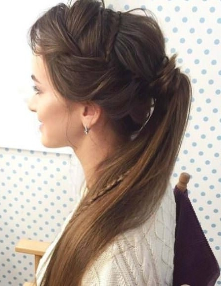 20 Cute French Braid Ponytails With Latest Sculptural Punky Ponytail Braids (View 2 of 15)