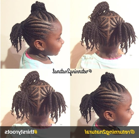 20 Cute Natural Hairstyles For Little Girls Intended For Most Recent Cornrows Hairstyles For Little Girl (View 11 of 15)