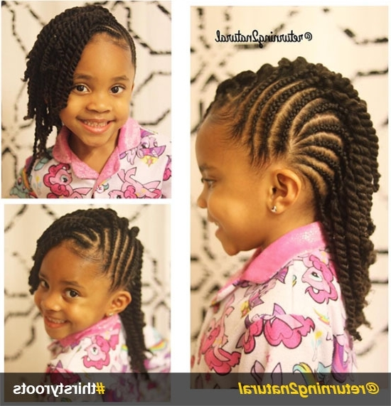 20 Cute Natural Hairstyles For Little Girls Throughout Most Current Cornrows Hairstyles For Ladies (View 11 of 15)