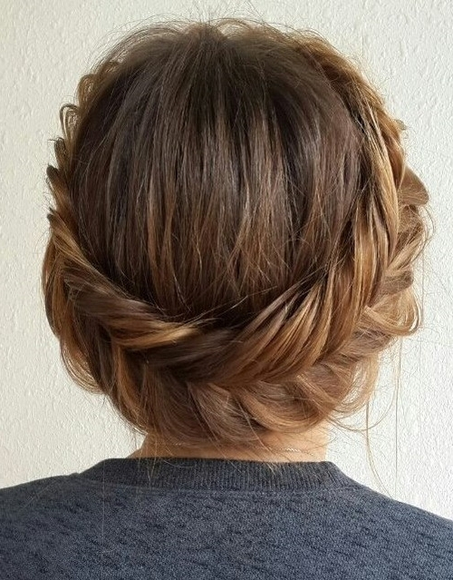 20 Easy And Pretty Updo Hairstyles For Mid Length Hair | Styles Weekly With Regard To Most Recently Braided Updo Hairstyles For Medium Hair (View 14 of 15)