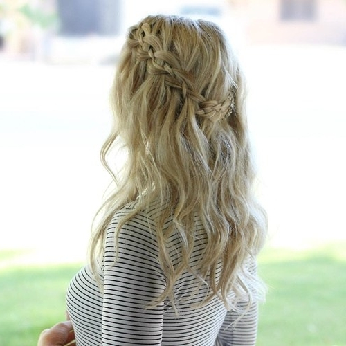 20 Flowing Waterfall Braid Styles – Page 5 – Foliver Blog Throughout Recent Long Braided Flowing Hairstyles (View 12 of 15)