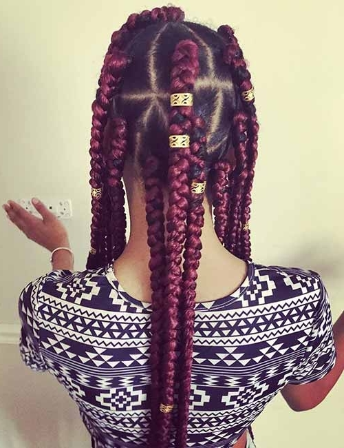 20 Funky Fresh Styling Ideas For Jumbo Box Braids For Most Popular Triangle Box Braids Hairstyles (View 15 of 15)