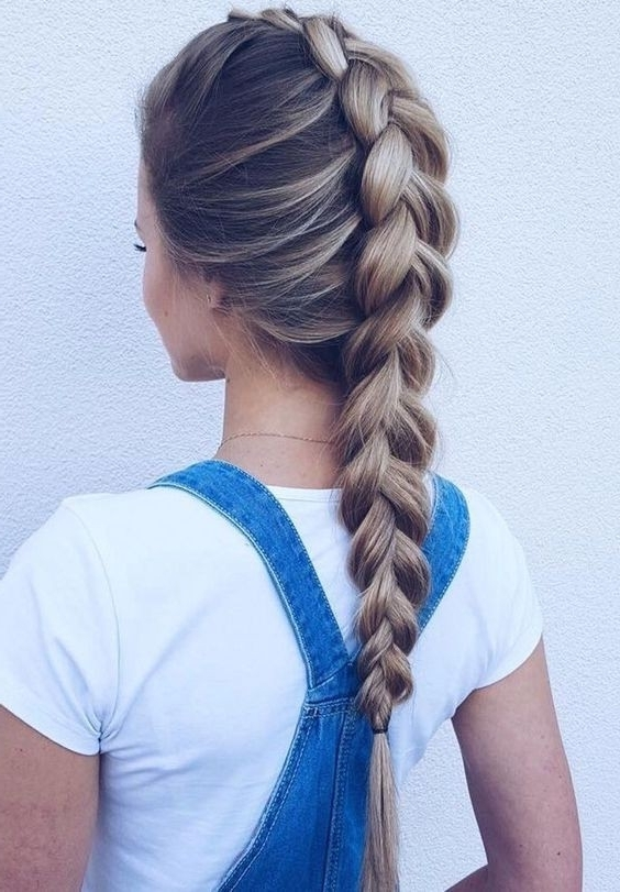 20 Gorgeous Braided Hairstyle Ideas: Chic Braids For Women 2017 Pertaining To Most Current Simple French Braids For Long Hair (View 11 of 15)