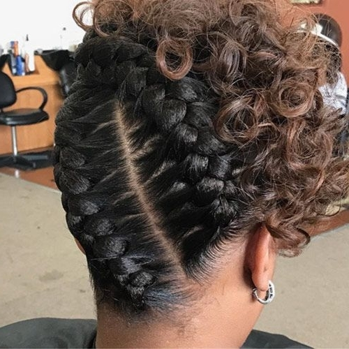 20 Gorgeous Goddess Braids Styles To Go Gaga Over | Braids Intended For 2018 Twin Braid Updo Hairstyles (View 5 of 15)