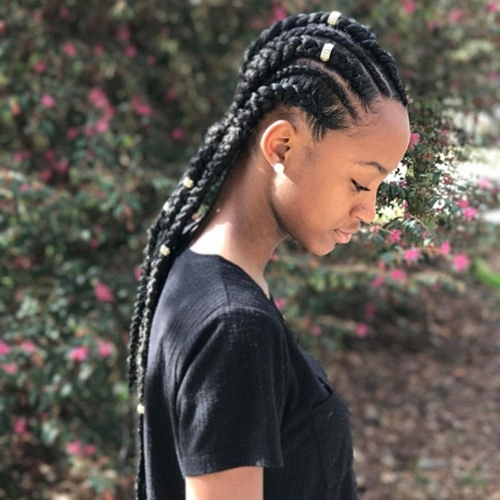 20 Gorgeous Goddess Braids Styles To Go Gaga Over Intended For Newest Wavy Straight Back Braids (View 6 of 15)