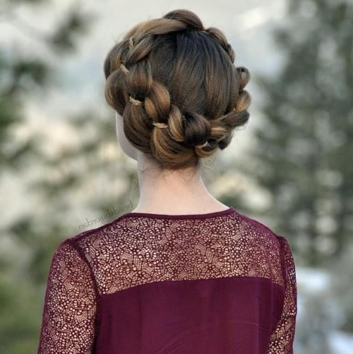 20 Hairstyles With Four Strand Braids To Inspire You | Hairstyles Within Most Up To Date Crimped Crown Braids (View 7 of 15)