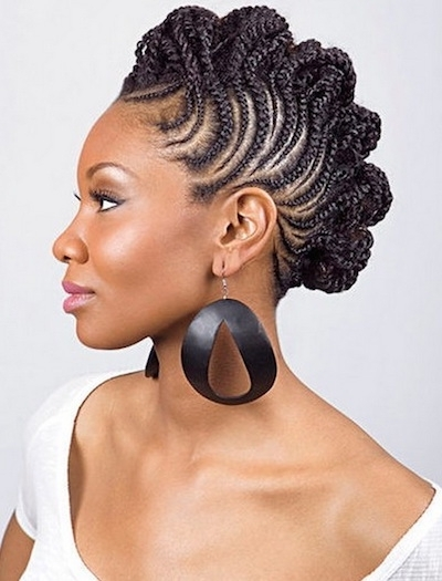 20 Hot And Stylish Short Hairstyles For African American Women In Most Current Cornrows Short Hairstyles (View 9 of 15)