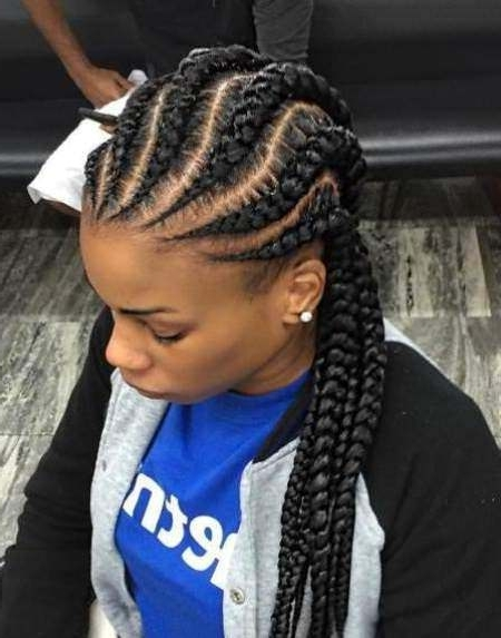 20 Hot Black Braided Hairstyle With Regard To Current Wavy Straight Back Braids (View 3 of 15)