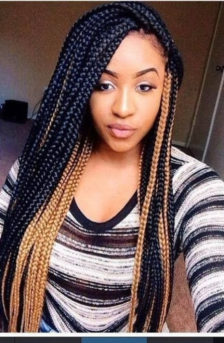 20 Iconic Box Braids Hairstyles With Regard To Most Current Multicolored Jumbo Braid Hairstyles (View 9 of 15)