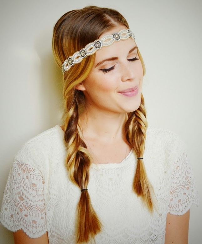 20 Pigtail Hairstyles You Can Rock Everyday – Feed Inspiration Inside Most Popular Pigtails Braided Hairstyles (View 14 of 15)