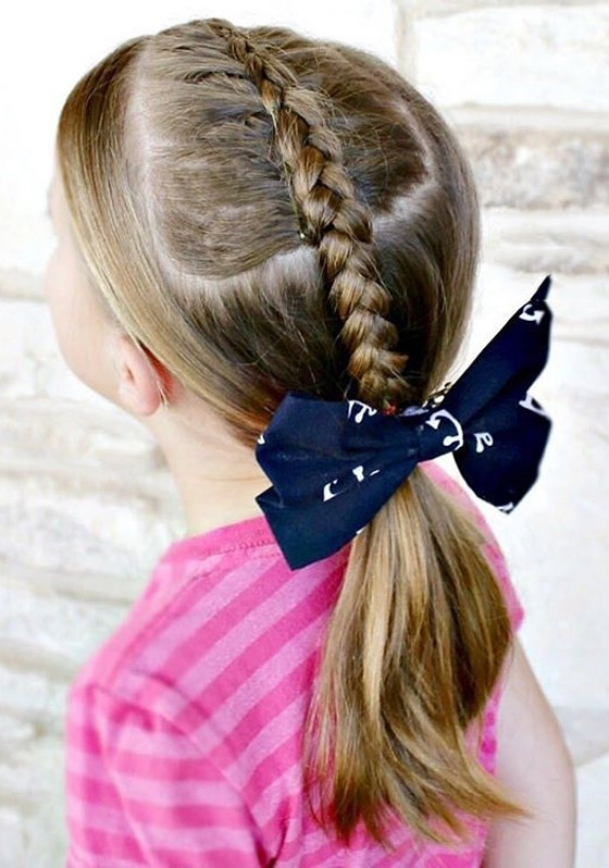 20 Quick And Easy Braids For Kids (Tutorial Included) Inside Most Popular French Braid Hairstyles With Bubbles (View 14 of 15)