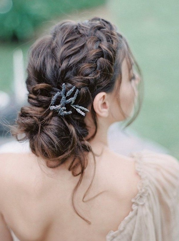 20 Spring/summer Wedding Hairstyle Ideas That Are Positively Swoon Pertaining To Current Braided Updo Hairstyles For Weddings (View 7 of 15)