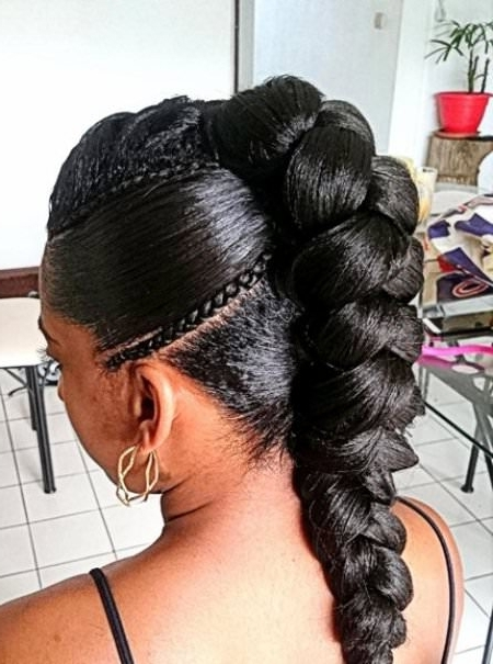 20 Unique Hair Braiding Styles Within Most Recent Braided Hairstyle With Jumbo French Braid (View 2 of 15)