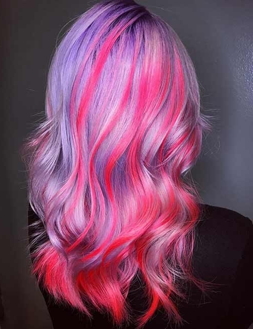 20 Yummy Cotton Candy Hair Color Ideas For Best And Newest Cotton Candy Updo Hairstyles (View 10 of 15)