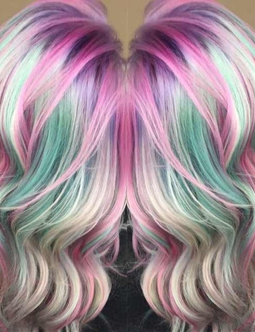 20 Yummy Cotton Candy Hair Color Ideas Regarding Current Cotton Candy Updo Hairstyles (View 9 of 15)