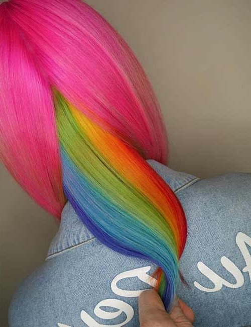 20 Yummy Cotton Candy Hair Color Ideas With Best And Newest Cotton Candy Updo Hairstyles (View 15 of 15)