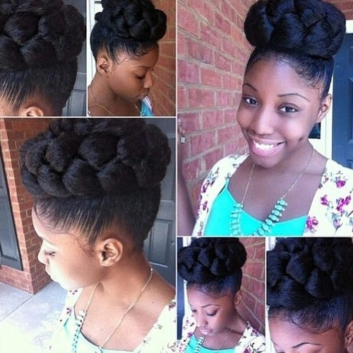 Featured Photo of Bulky Braided Crown Bun