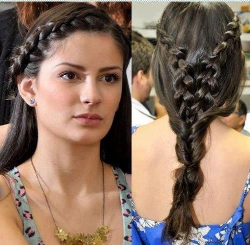 2018 Eid Hairstyles – 20 Latest Girls Hairstyles For Eid In Most Recently Braided Hairstyles In The Front (View 14 of 15)