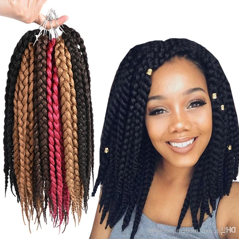 2018 Sample 12Inch 3S Box Braids Crochet Twist Kanekalon Synthetic Intended For Recent Braided Hairstyles With Crochet (View 7 of 15)