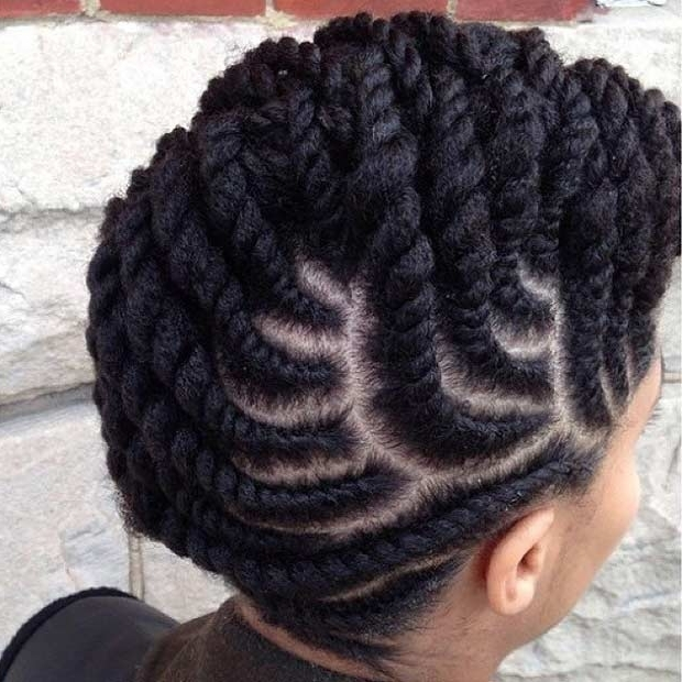 21 Gorgeous Flat Twist Hairstyles | Stayglam Within Recent Cornrows Twist Hairstyles (View 12 of 15)
