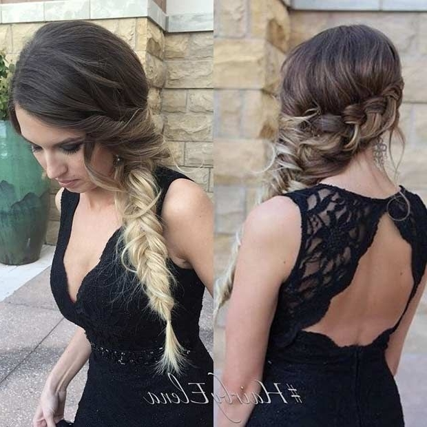 21 Pretty Side Swept Hairstyles For Prom | Stayglam Hairstyles Inside Newest Flowy Side Braid Hairstyles (View 4 of 15)