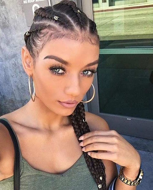 21 Trendy Braided Hairstyles To Try This Summer | Page 2 Of 2 | Stayglam Within Most Popular Cornrows Hairstyles For White Girl (View 8 of 15)