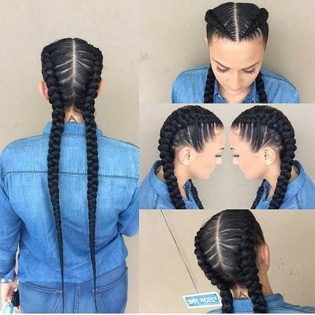 21 Trendy Braided Hairstyles To Try This Summer   Stayglam For Most Recently Braided Hairstyles With Two Braids (View 14 of 15)