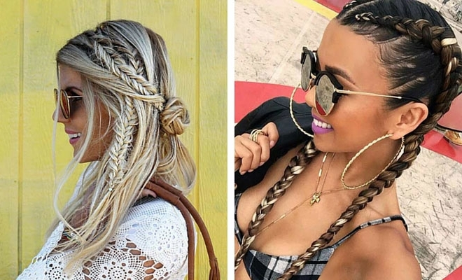 21 Trendy Braided Hairstyles To Try This Summer | Stayglam Regarding Most Popular White Braided Hairstyles (View 10 of 15)