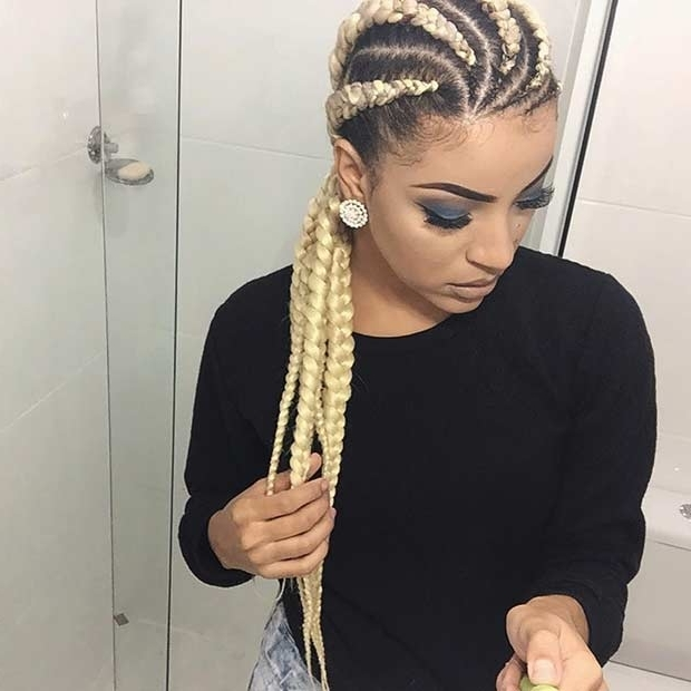 21 Trendy Braided Hairstyles To Try This Summer | Stayglam With Regard To Most Recently Cornrows Hairstyles With White Color (View 13 of 15)