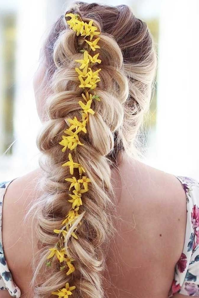 21 Unique Fall Hairstyles To Try Out | Fall Hairstyles, Braided Pony Within Best And Newest Ponytail Braids With Quirky Hair Accessory (View 8 of 15)