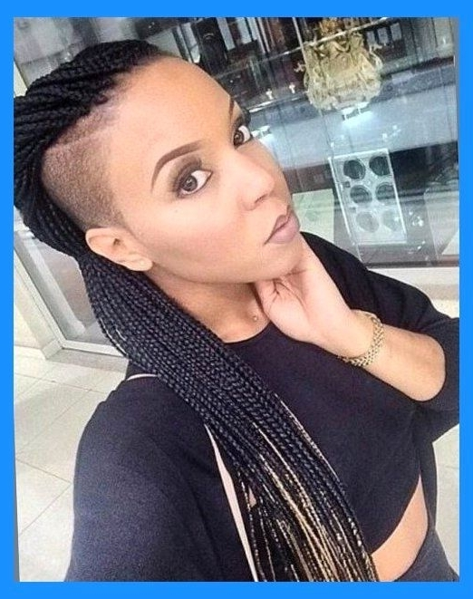 211 Best Braids With Shaved Sides Images On Pinterest Protective As For Current Braided Hairstyles With Tapered Sides (View 9 of 15)