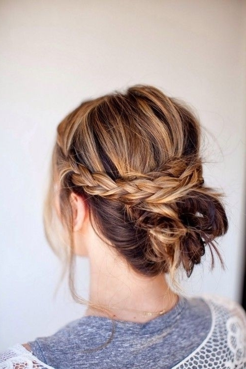 22 Great Braided Updo Hairstyles For Girls – Pretty Designs With Regard To Latest Easy Casual Braided Updo Hairstyles (View 7 of 15)