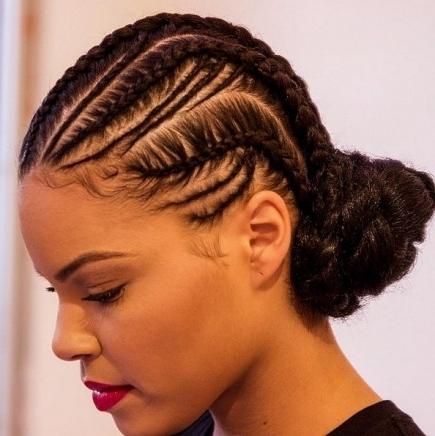 23 Elegant Cornrow Braids For Black Women With Regard To Newest Elegant Cornrows Hairstyles (View 4 of 15)