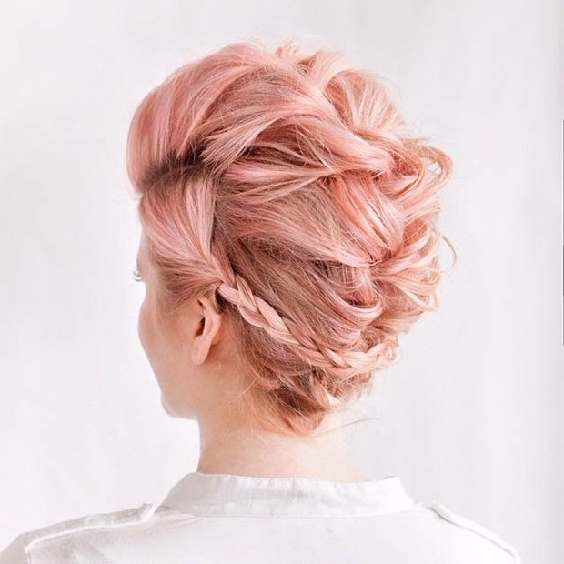 23 Faux Hawk Hairstyles For Women | Stayglam Throughout Newest Long Braided Faux Hawk (View 15 of 15)