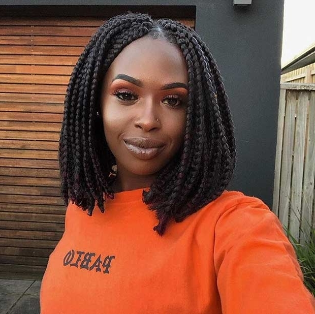 23 Trendy Bob Braids For African American Women | Stayglam With Regard To Current Cornrows Bob Hairstyles (View 2 of 15)