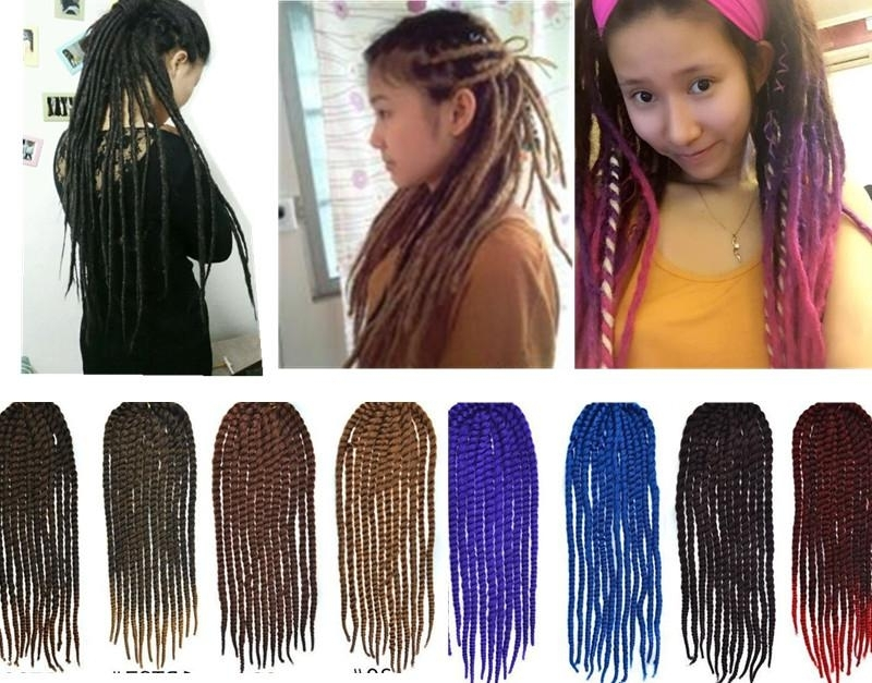 24African Braids Crochet Twist Hair Gradient/colorful Long Hair Within Most Popular Multicolored Jumbo Braid Hairstyles (View 12 of 15)