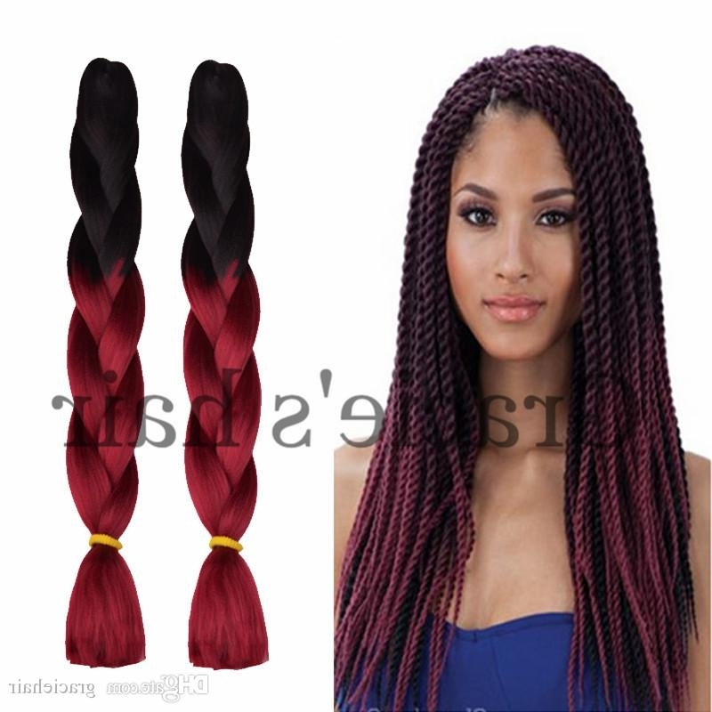 24Inch Ombre Hair Extensions Crochet Box Braids Hair Bundles Pertaining To Most Recently Braided Extension Hairstyles (View 13 of 15)