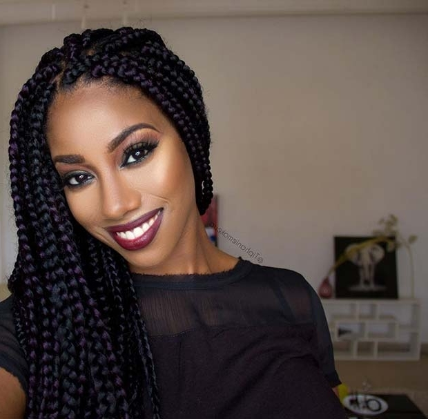25 Best Black Braided Hairstyles To Copy In 2018 | Stayglam With Regard To Latest Long Chunky Black Braids Hairstyles (View 5 of 15)