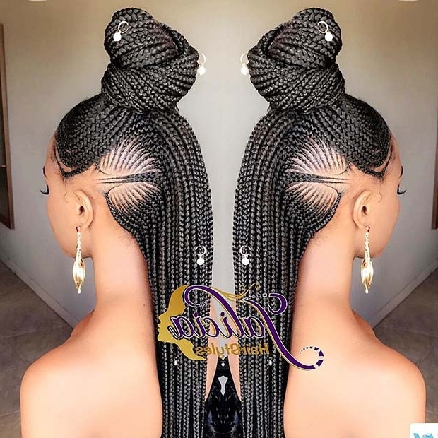 25 Best Ways To Rock Feed In Braids This Season | Stayglam In Most Recently Ponytail Braids With Quirky Hair Accessory (View 14 of 15)