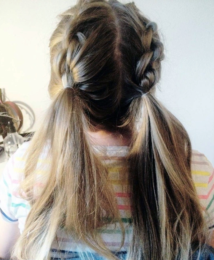 25 Cool Pigtails Hairstyles – From Dutch And French Braid Pigtails Intended For Most Recently French Braids Into Pigtails (View 8 of 15)