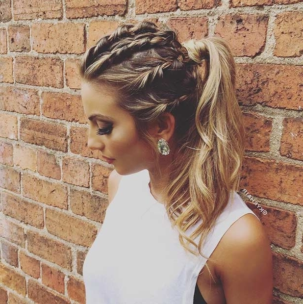 25 Elegant Ponytail Hairstyles For Special Occasions | Page 2 Of 3 Within Most Current Braid Into Pony Hairstyles (View 11 of 15)