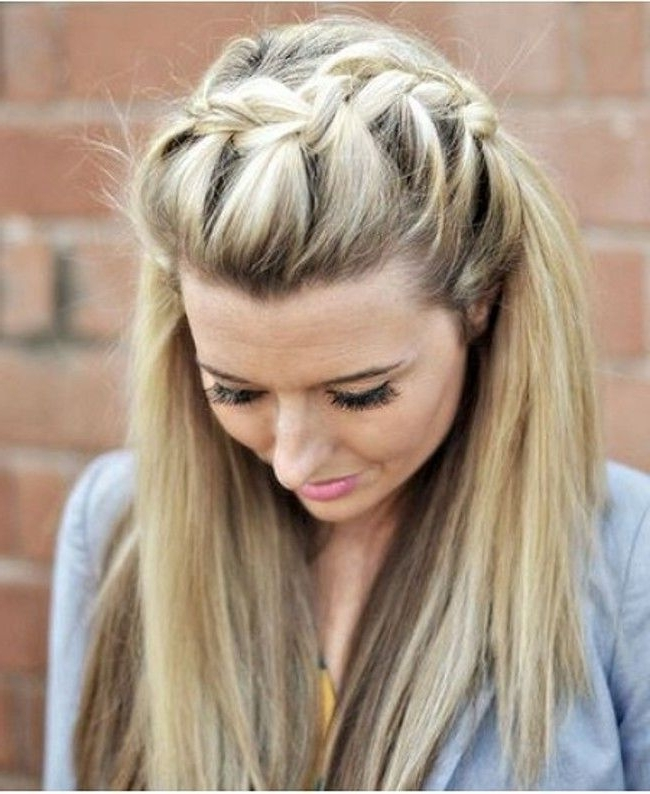 25 Gorgeous Braided Hairstyles You Must Try | Braids | Pinterest With Most Recently Braided Hairstyles In The Front (View 5 of 15)