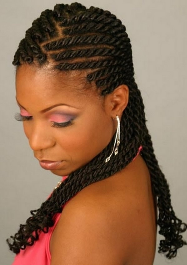 25 Hottest Braided Hairstyles For Black Women – Head Turning Braided Inside Latest Braided Hairstyles To The Back (View 4 of 15)