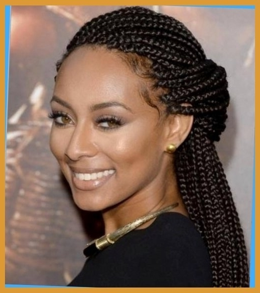25 Hottest Braided Hairstyles For Black Women Head Turning Inside Intended For Newest Singles Braided Hairstyles (View 5 of 15)