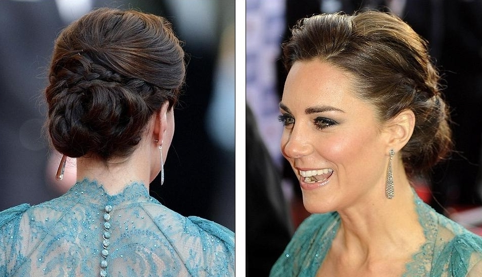 25 Of The Most Beautiful Braided Bridal Updos : Chic Vintage Brides Within Most Recent Braided Vintage Hairstyles (View 9 of 15)