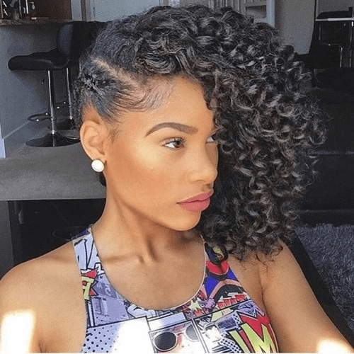 25 Uplifting Crochet Braid Hairstyles To Stand Out – Hairstylecamp For Best And Newest Cornrows One Side Hairstyles (View 5 of 15)